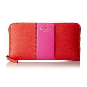New Kate Spade NY Cedar Street Racing Strip Wallet